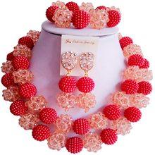 על מכירה בז 'סגול אפריקאי סגנון מתנת יום נישואים נשים קריסטל שרשרת תכשיטי סטים 2C-ZZSJ-56(China)
