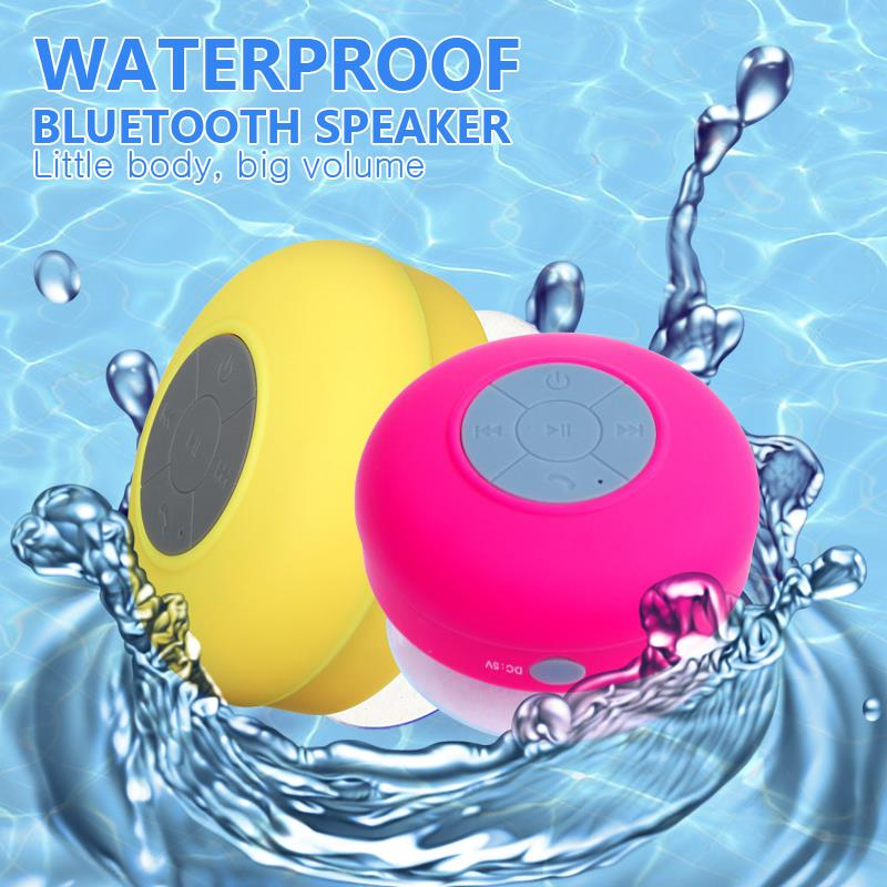 Portable Waterproof Wireless Bluetooth Speaker Shower Car Handsfree Receive Call & Music Suction Phone Mic altavoz bluetooth(China (Mainland))