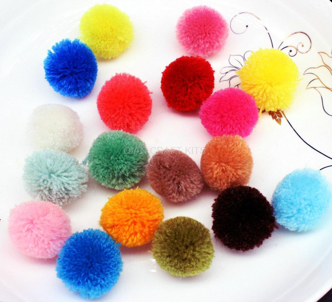 400pcs 20 25mm Mix Color Pom Pom Ball Pompom Yarn Pom Pom