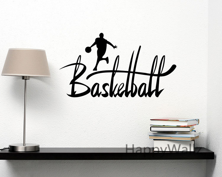 Basketball Quotes Sports Motivational Quote Wall Sticker DIY Decorative Basketball Inspirational Sports Wall Decal Quotes Q102(China (Mainland))