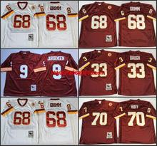 Throwback stitched Washington Redskins Mitchell & Ness # Robert Griffin III,Art Monk,John Riggins,Darrell Green,JOE THEISMANN(China (Mainland))