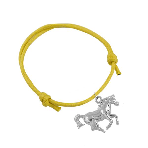 10Pcs/Lot Zinc Alloy Rhodium Plated Casual Running Horse Animal Charm Bracelet Jewelry Made In China(China (Mainland))