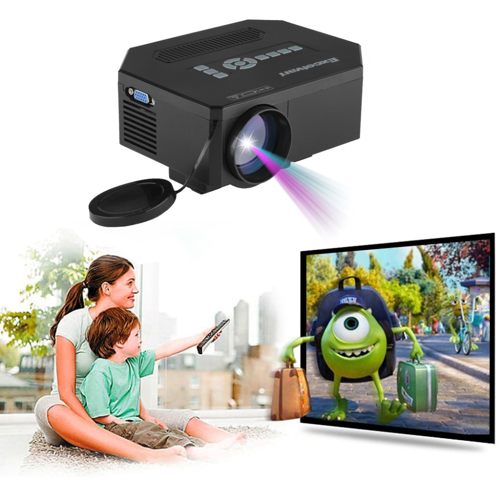 Hot !Excelvan Multimedia Portable LCD/LED Projector Home Theater Proyector Mini Projector with USB/SD/VGA/HDMI/AV/Micro USB(China (Mainland))