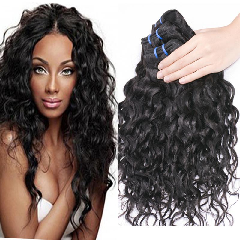 Brazilian Hair Weave Bundles Brazilian Water Wave Bele Virgin Hair Wet Wavy Human Hair Brazilian Hair Cheveux Bresilien Vishine<br><br>Aliexpress
