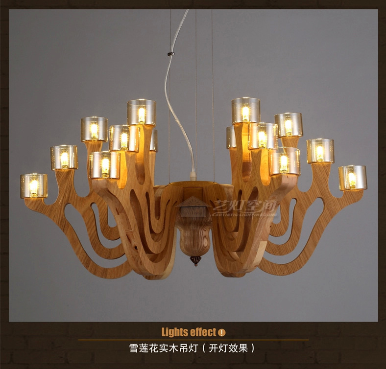 pendant Lighting living room hotel Lighting projects rattan wood staircase pendant lamp(China (Mainland))