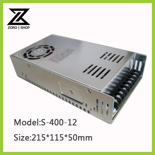 400W 12V 33.3A LED Light Devices Switching Power Supply AC-DC PSU 100/110/220/230V S-400-12(China (Mainland))