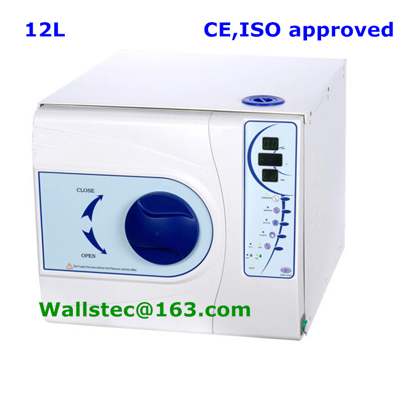 12L Europe class B dental autoclave sterilizer with CE and ISO free shipping(China (Mainland))