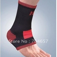 Free Shipping Pair of Exercise Sports Elastic Ankle Support Brace Protector Size Free(China (Mainland))