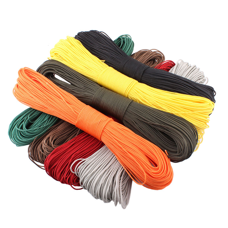 50 Meters Dia. 2mm one stand Cores Paracord for Survival Parachute Cord Lanyard Camping Climbing Camping Rope Hiking Clothesline(China (Mainland))