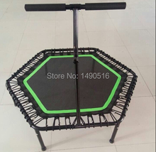 Hexagon trampoline with bungee suspension and handle bar(China (Mainland))