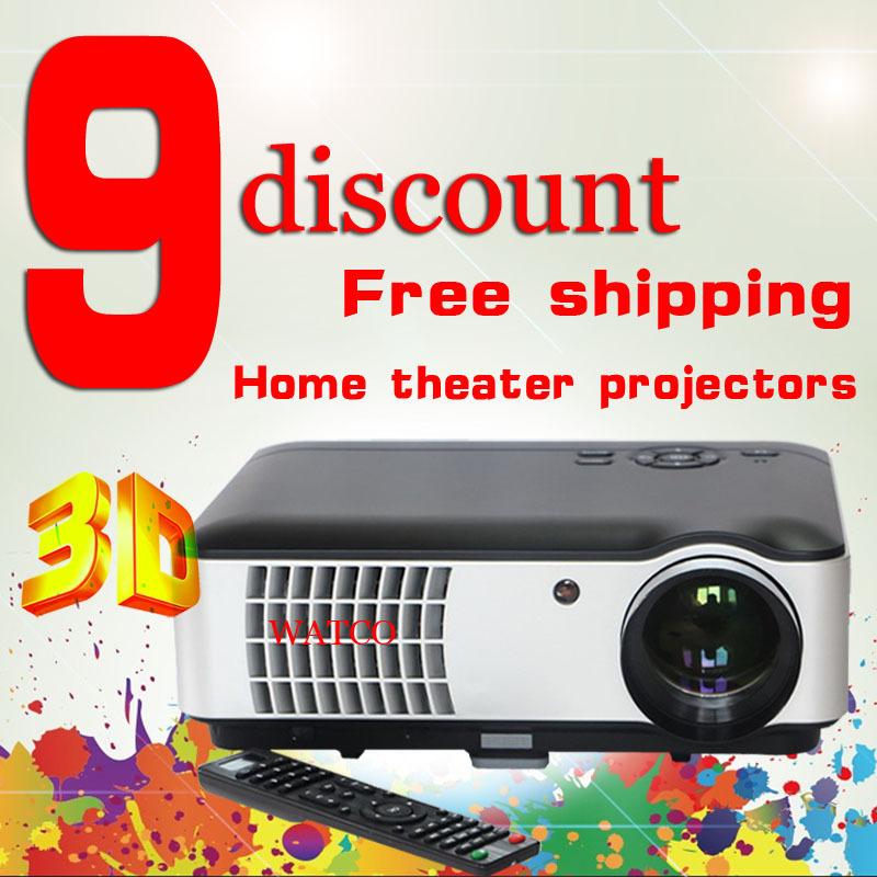 2014 Free gift brightness 4200 lumens hd blh projectors support USB VGA HDMI AV TV 180 watt LED lamp home theater projectors<br><br>Aliexpress
