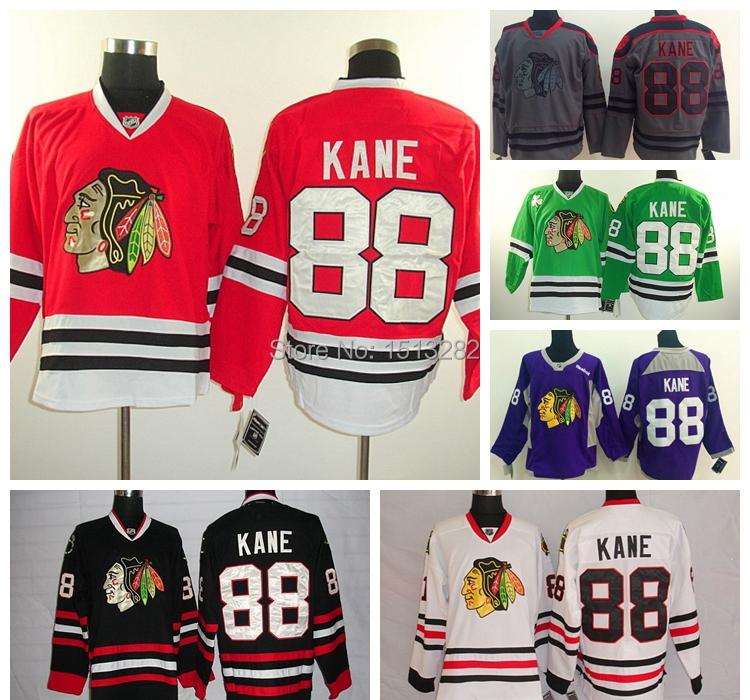 Гаджет  Free Shipping  #88 Patrick Kane Stitched Jersey Men