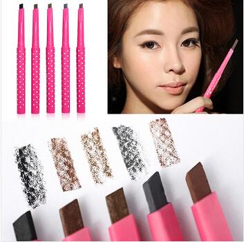 Rotação automática lápis de sobrancelha impermeável e suor não desmaiar maquiagem 5 cor de maquiagem