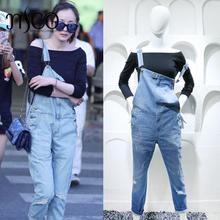 2016 Brand Ankle-length Burr holes Female Jeans Loose street Denim trousers Fashion overalls Jumpsuit Casual Rompers women Jeans