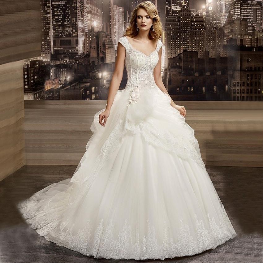 Beaded Illusion Back Wedding Dress: W3073 Latest Fashion White Sheer Lace Illusion Beaded Sexy