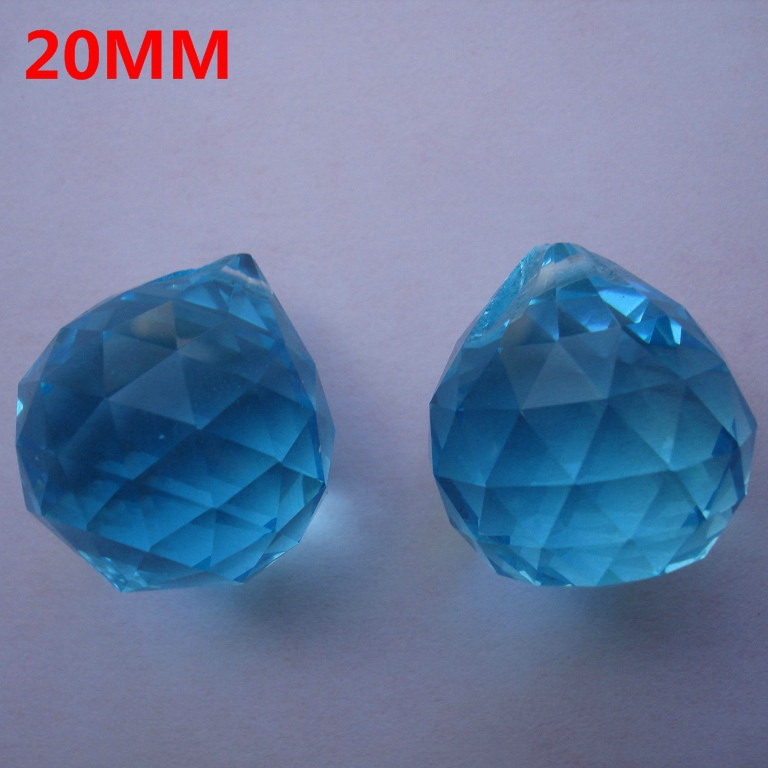 Free shipping,20PCS/lot,20mm aquamarine color,crystal faceted ball,crystal ball for chandelier part&amp;wedding,X-MAS party supplie<br><br>Aliexpress