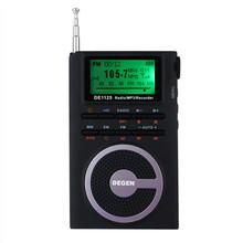 Newest DEGEN DE-1125 FM Stereo MW SW DSP ATS Built-in 4GB MP3 Radio 850mAh Black