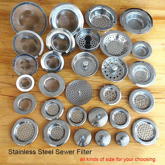 Stainless steel sewer filter bathroom drain outlet kitchen sink filters anti clogging floor drain net(China (Mainland))
