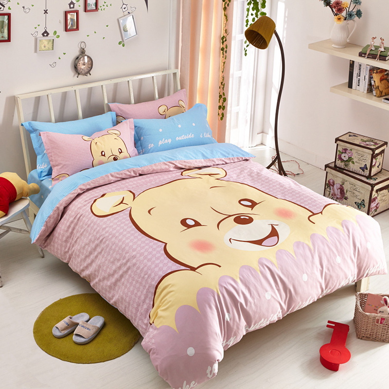 Cartoons Bedroom Sets For Teenagers : 2015 100% cotton cartoon bedding set kids bedding sets for baby ...