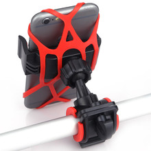 Bike Bicycle Motorcycle Handlebar Mount Holder Phone Holder With Silicone Support Band For Iphone Samsung XIAOMI GPS Universal