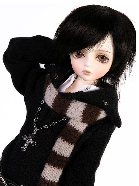 Free shipping 1/4 ( 40cm ) 5 colours skin high quality resin Kid Delf Boy bobbie head dolls( include eyes and makeup)