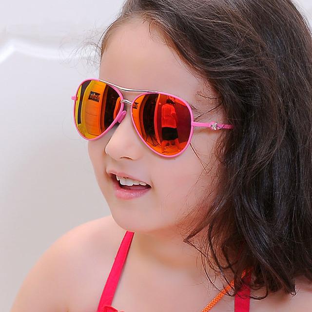 Детские классические очки-капельки поляризационные цветные P565