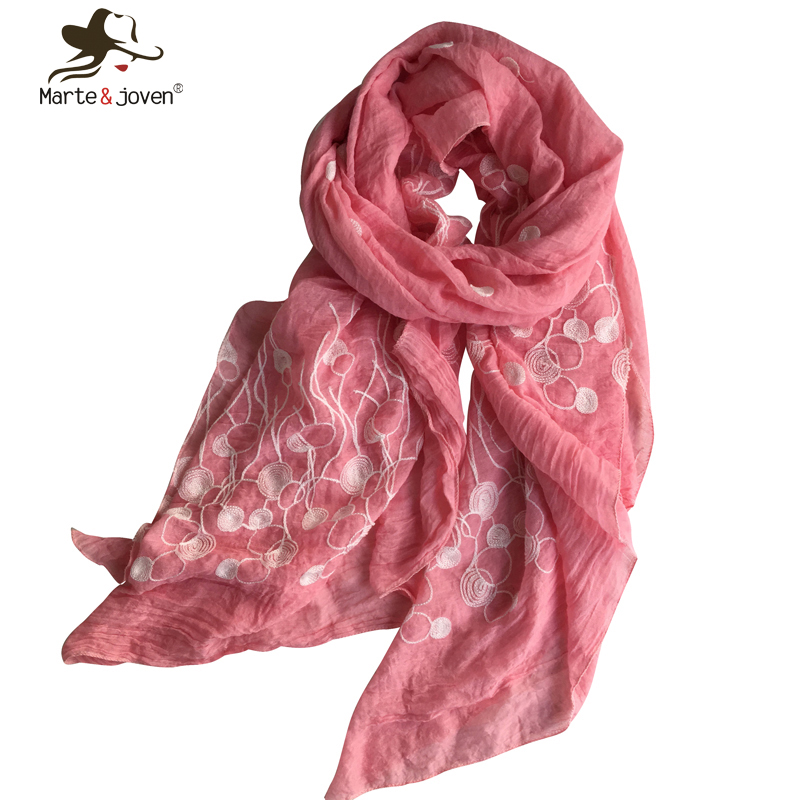 New Japanese Style Long Scarves and Shawls for Women Floral Embroidery Wraps Simple Design Mori Girls Scarfs and Wraps(China (Mainland))