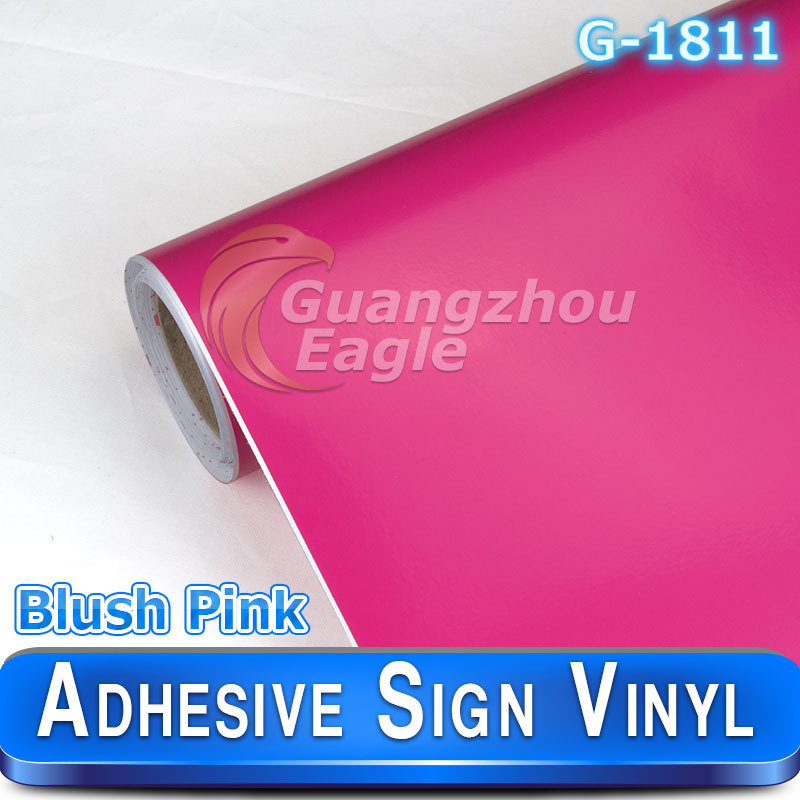 Glossy Blush Pink Cutting vinyl&sign vinyl&plotter vinyl color Stickers and Signs(China (Mainland))