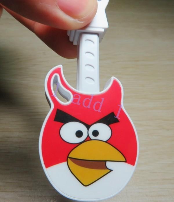 Cheaper 2pcs/lot mini Cartoon Guitar MP3 Player Flash Card Music Players with microsd Card Slot kids gift(China (Mainland))