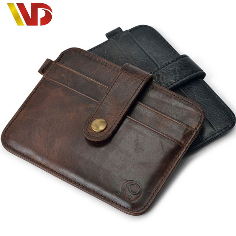 Top Quality Real Leather Card Wallets Men Wallet Women Small Credit Card Wallet Mini One Piece