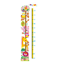 Buy Kids Height Chart Wall Sticker Home Decor Cartoon Height Ruler Home Decoration Room Decals Wall Art Sticker Wallpaper for $3.10 in AliExpress store