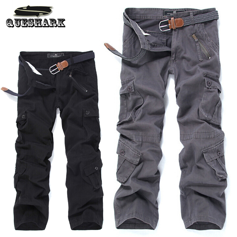 Men Outdoor Camouflage Multi-pocket Military Tactical Hunting Pants Camping Cargo Pants  Loose Overalls Jogging Sports Trousers