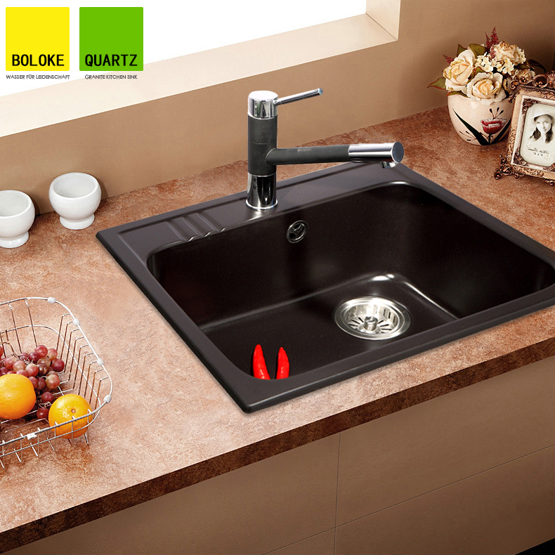Quartz Stone Kitchen Sink : Germany Bo Luo G single slot quartz stone sinks granite kitchen ...