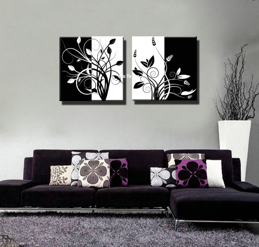 Buy black and white abstract tree of life for Black white canvas paintings