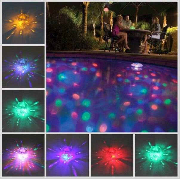 New LED Underwater Waterproof Durable Flash Floating Lamp Bath Decorative Light Disco Multi Color Party Baby Pool Spa Tub Bulb(China (Mainland))