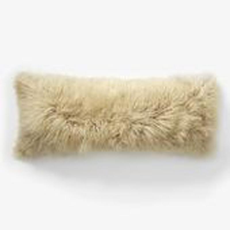 Coussin de fourrure de mongolie promotion achetez des for Taie d oreiller pour canape