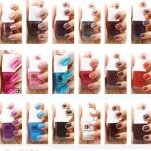 18 Colors Bk Matte Nail Polish Nail Art Nail Varnish Lacquer Paint black Matte Nail PolishNail Colors for woman(China (Mainland))