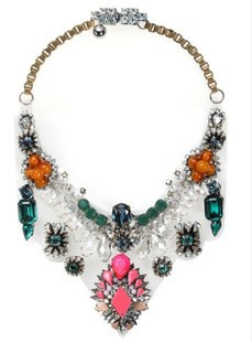 2013 Fashion Shourouk green crystal luxury statment necklace jewelry vintage chokers necklace neon acrylic crystal shourouk<br><br>Aliexpress