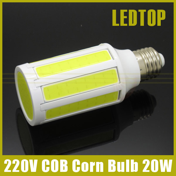 Ultra Bright E27 20W COB Led Lamp AC 220V High Power Corn Bulb Lighting White Warm White Spot Light With CE ROHS Bombillas(China (Mainland))
