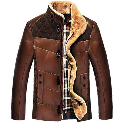 2014 -Season clearance Down jacket Men Collar Genuine Fur collar Winter New Short Mens Thickening Jacket ParkasОдежда и ак�е��уары<br><br><br>Aliexpress