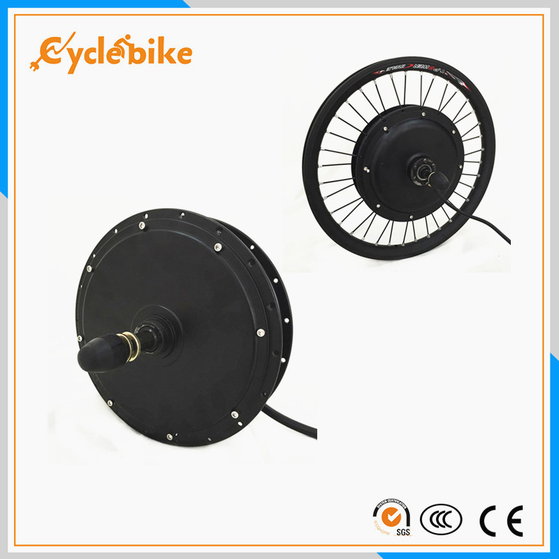 Brushless electric bicycle motor front wheel hub kit for Fastest electric bike hub motor