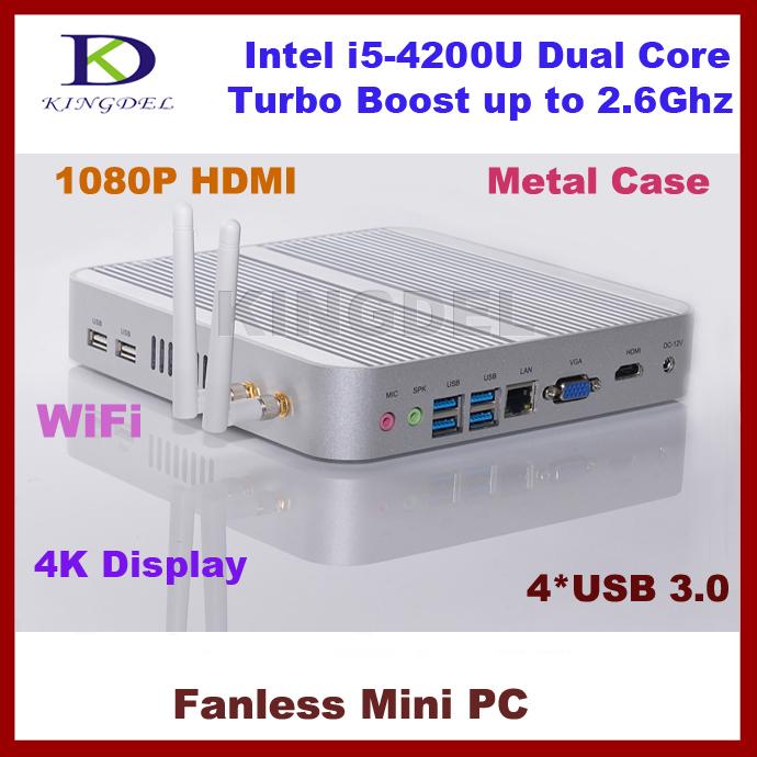 3 Year Warranty 8GB RAM+128GB SSD HTPC, Thin Client, Intel i5-4200U Dual Core CPU, 1920*1080, WiFi, 4*USB 3.0, HDMI, Mini PC(Hong Kong)