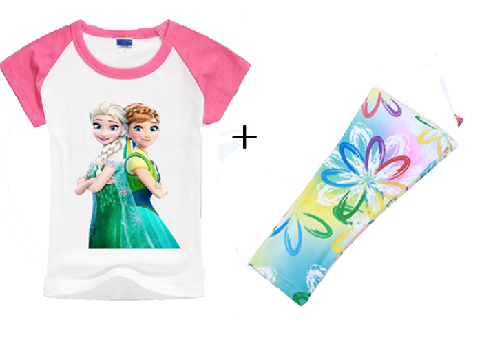 Newest 2016 Summer Girl Princess 2pcs Clothes Set Baby Girl Clothes Children Flower Cartoon Clothing Set Kids Brand Summer Sets(China (Mainland))
