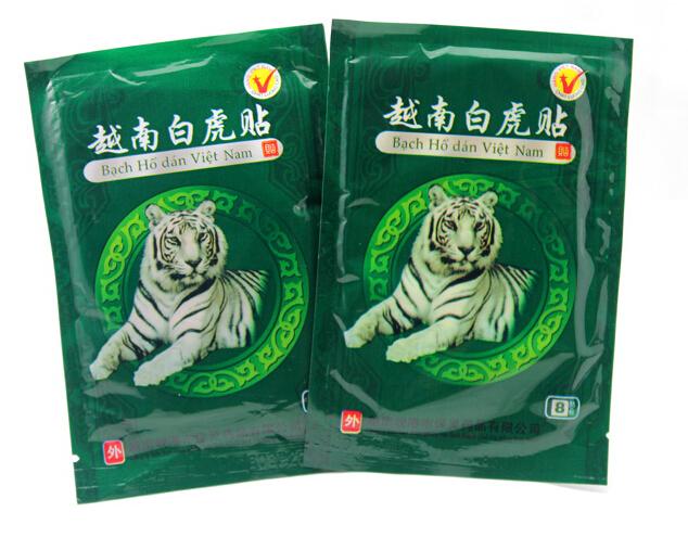 8 sheets lot Neck vertebra plaster sticker Vietnam White Tiger plaster relieve pain Rheumatoid arthritis Lumbar