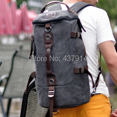 Shoulder bag backpack schoolbag tide male canvas men outdoor sports travel - Online Store 437914 store