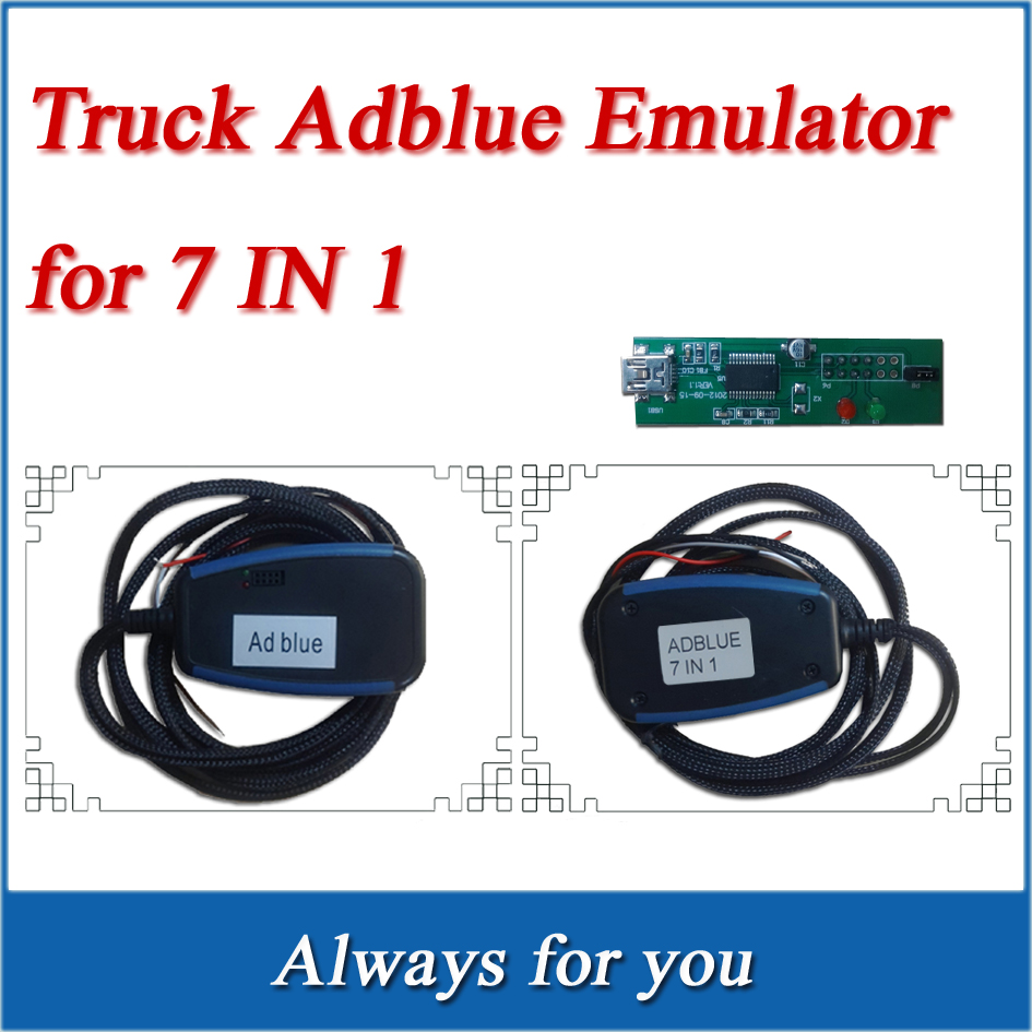 Lowest Price+High Quality Adblue Emulator 7In1 Professioanl Truck Ad blue Remove Tool Adblue 7 In 1 Support EURO 4/5 Free Ship(China (Mainland))