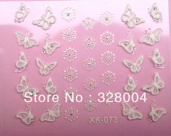 Free shipping 2013 NEW 3D Nail Art Sticker Decal / Christmas nail patch/ NAIL ART STICKERS FOR CHRISTMAS