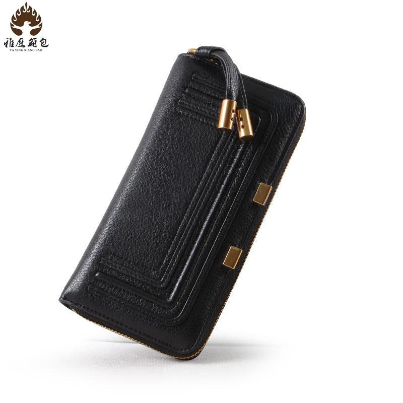 Famous Brand Wallets Genuine Leather Womens Wallets And Purses 2016 Brand Hot Leather Wallet Men Clip Cowhide Travel Passport<br><br>Aliexpress