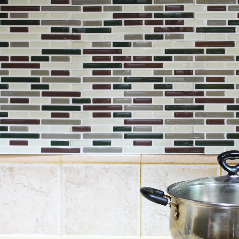 kitchen backsplash peel and stick tiles faux subway glossy wall tiles