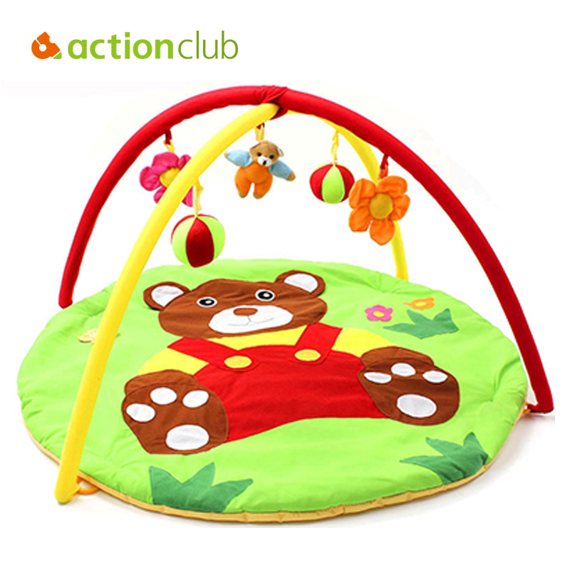 Actionclub Bear Baby Toys Baby Play Mat Game Tapete Infantil Educational Crawling Mat Play Gym Cartoon Blanket Puzzle Carpet(China (Mainland))